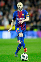 FC Barcelona's Andres Iniesta during Spanish King's Cup Semi Final 2nd match. February 8,2018.  *** Local Caption *** © pixathlon<br /> Contact: +49-40-22 63 02 60 , info@pixathlon.de