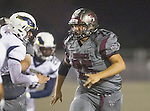 Torrance, CA 09/25/15 - Jeffrey Saks (Torrance #75) in action during the El Segundo - Torrance varsity football game at Zamperini Field of Torrance High School