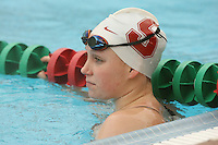STANFORD, CA - JANUARY 22:  Jessie Hammes of the Stanford Cardinal during Stanford's 173-125 win over Arizona on January 22, 2010 at the Avery Aquatic Center in Stanford, California.