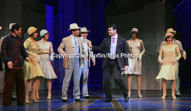 """As The World Turns' Burke Moses & One Life To Live, All My Children, Loving """"Curtis Alden"""", Guiding Light and Broadway's """"Gaston"""" in Beauty and the Beast cast star in """"Thoroughly Modern Miillie"""" at the Paper Mill Playhouse, Millburn, NJ with opening night being on April 14, 2013. Opening Night curtain call with the after party at Martinis Bistro and Bar.   (Photo by Sue Coflin/Max Photos)"""