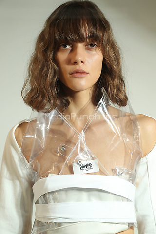 MM6 by Maison Margiela<br /> backstage at  fashion show, London Fashion Week<br /> Spring Summer 2018<br /> in London, England in September 2017.<br /> CAP/GOL<br /> &copy;GOL/Capital Pictures /MediaPunch ***NORTH AND SOUTH AMERICAS ONLY***