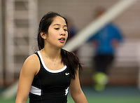 March 15, 2015, Netherlands, Rotterdam, TC Victoria, NOJK, Final girls 14 years, Lian Tran (NED)<br /> Photo: Tennisimages/Henk Koster