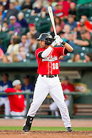 Jesus Valdez (16) of the Great Lakes Loons at bat against the Wisconsin Timber Rattlers at the Dow Diamond on May 4, 2013 in Midland, Michigan.  The Timber Rattlers defeated the Loons 6-4.  (Brian Westerholt/Four Seam Images)