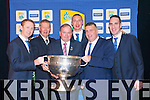 Colm Cooper, Micheal O Muiracheartaigh Liam O'Neill GAA President, Kieran Donaghy, Patriack O'Sullivan County Board Chairman, and Declan O'sullivan with the Sam Maguire  at their victory  banquet in the INEC on Friday night