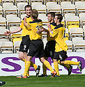 KENNY DEUCHAR CELEBRATES AFTER HE SCORES LIVINGSTON'S SECOND