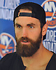 Andrew Ladd of the New York Islanders speaks with reporters at the Long Island Marriott in Uniondale on Thursday, Sept. 22, 2016.