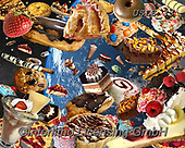 Lori, STILL LIFE STILLEBEN, NATURALEZA MORTA, paintings+++++Out Of This World Desserts_New_72,USLS33,#I#, EVERYDAY ,puzzles ,collage