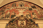Israel, Jerusalem, artwork at entrance to the Armenian Orthodox St. James Cathedral