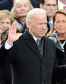 United States Vice President Joe Biden takes the oath of office from Associate Justice Sonia Sotomayor during the public swearing-in ceremony at the U.S. Capitol in Washington, D.C. on Monday, January 21, 2013.  .Credit: Ron Sachs / CNP.(RESTRICTION: NO New York or New Jersey Newspapers or newspapers within a 75 mile radius of New York City)