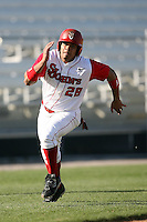 February 21, 2009:  Outfielder Carlos Del Rosario (28) of St. John's University during the Big East-Big Ten Challenge at Jack Russell Stadium in Clearwater, FL.  Photo by:  Mike Janes/Four Seam Images