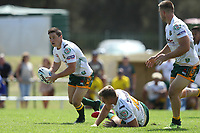 The Wyong Roos play Macquarie Scorpions in Round 1 of The NSW Challenge Cup at Peacock Field on 16th of February, 2019 in Toronto, NSW Australia. (Photo by Paul Barkley/LookPro)
