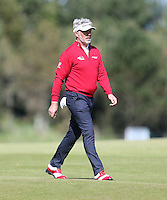 Friday 29th May 2015; Darren Clarke, Northern Ireland, strides up the 15th<br /> <br /> Dubai Duty Free Irish Open Golf Championship 2015, Round 2 County Down Golf Club, Co. Down. Picture credit: John Dickson / SPORTSFILE
