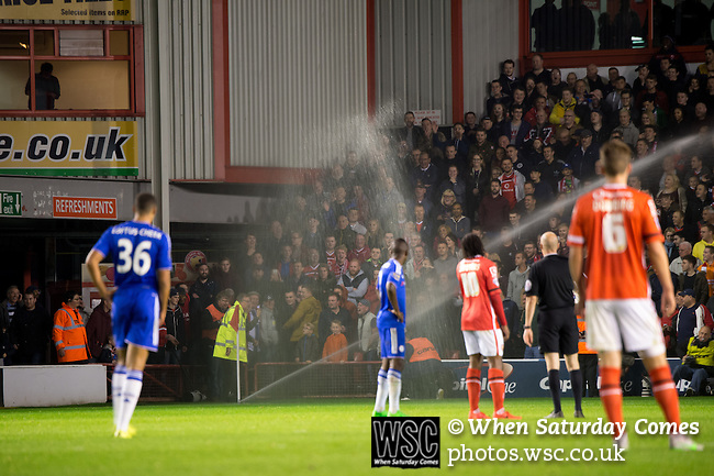 Walsall 1 Chelsea 4, 23/09/2015. Bescot Stadium, Capital One Cup Third Round. League One Walsall host struggling Premier League Chelsea. After drawing the Londoners, Saddlers supporters sold out the Bescot Stadium hoping for an upset. The match was watched by 10,525. Photos by Simon Gill.