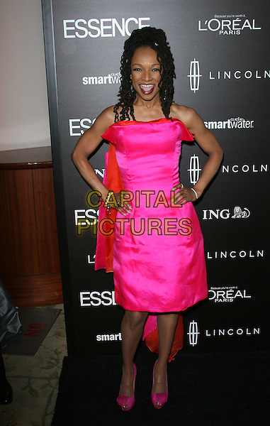 Siedah Garrett.5th Annual ESSENCE Black Women In Hollywood Luncheon held at the Beverly Hills Hotel, Beverly Hills, California, USA..February 23rd, 2012.full length pink strapless dress hands on hips.CAP/ADM.©AdMedia/Capital Pictures.