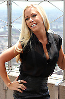 "Kendra Wilkinson Baskett at the Empire State Building's 86th floor Observatory to promote her WE tv reality series ""Kendra On Top"" in New York, 06.06.2012. .Credit: Rolf Mueller/face to face / Mediapunchinc"