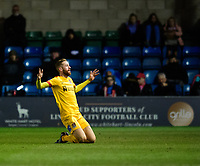Northampton Town's Kevin van Veen celebrates scoring his side's equalising goal to make the score 2-2<br /> <br /> Photographer Chris Vaughan/CameraSport<br /> <br /> Emirates FA Cup First Round - Lincoln City v Northampton Town - Saturday 10th November 2018 - Sincil Bank - Lincoln<br />  <br /> World Copyright © 2018 CameraSport. All rights reserved. 43 Linden Ave. Countesthorpe. Leicester. England. LE8 5PG - Tel: +44 (0) 116 277 4147 - admin@camerasport.com - www.camerasport.com