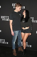 BUENA PARK, CA - SEPTEMBER 29:  Levi Meaden and Ariel Winter at Knott's Scary Farm & Instagram's Celebrity Night at Knott's Berry Farm in Buena Park, California on September 29, 2017. Credit: Faye Sadou/MediaPunch