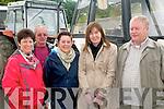 Vintage Parade :Watching the vintage tractor parade in Kilflynn were Joan, Patrick & marie O'Halloran, Anne Marie Toye & Stephen O'Halloran.