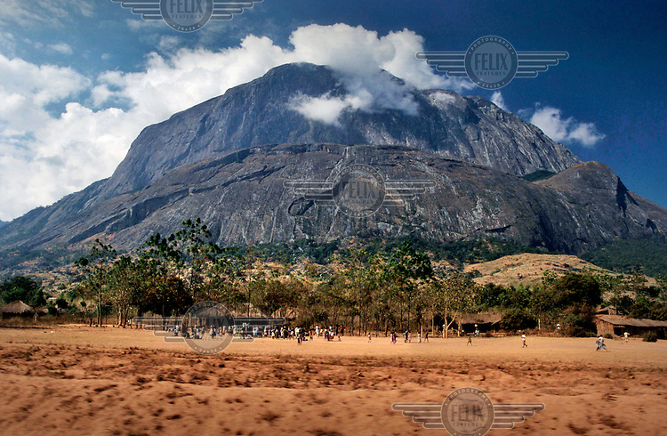 The foot of Mount Mulanje, a monadnock in southern Malawi.