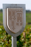 Vineyard.  Les Boucherottes, Hospices de Beaune. Beaune, Cote d'Or, Burgundy, France