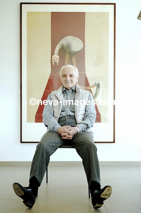 Saint Sulpice, le 27 septembre 2014, Charles Aznavour, Chanteur et ambassadeur en Suisse pour l'Arménie. © sedrik nemeth
