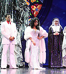 Chester Gregory & Carolee Carmello with Raven-Symone as she takes her first Broadway Bow in 'Sister Act' at the Broadway Theatre in New York City on 3/27/2012.