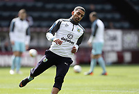 Burnley's Aaron Lennon during the pre-match warm-up <br /> <br /> Photographer Rich Linley/CameraSport<br /> <br /> The Premier League - Burnley v Leicester City - Saturday 14th April 2018 - Turf Moor - Burnley<br /> <br /> World Copyright &copy; 2018 CameraSport. All rights reserved. 43 Linden Ave. Countesthorpe. Leicester. England. LE8 5PG - Tel: +44 (0) 116 277 4147 - admin@camerasport.com - www.camerasport.com