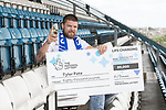 Camelot Lottery scratch card Winner Tyler Pate.<br /> Bristol Rovers Football Club<br /> 07.06.17<br /> &copy;Steve Pope - Fotowales