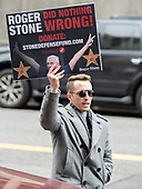 Supporter of former adviser to United States President Donald J. Trump, Roger Stone, outside the US District Court in Washington, DC where he is being arraigned on an indictment brought by special counsel Robert Mueller on January 29, 2019.  The allegations against the longtime Trump associate say he sought stolen emails from WikiLeaks that could potentially damage Trump's opponents while working in coordination with senior Trump campaign officials.<br /> Credit: Ron Sachs / CNP<br /> (RESTRICTION: NO New York or New Jersey Newspapers or newspapers within a 75 mile radius of New York City)
