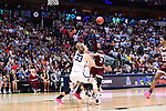 DALLAS, TX - MARCH 31: Katie Lou Samuelson #33 of the Connecticut Huskies is fouled during the 2017 Women's Final Four at American Airlines Center on March 31, 2017 in Dallas, Texas. (Photo by Justin Tafoya/NCAA Photos via Getty Images)