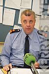 GARDAI: Speaking to the media at the Garda Press Conference in Killorglin Garda Station on Monday, Superintendent John Gilligan