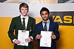 Boys Squash finalists Josh McHugh & Preshin Manmindar. ASB College Sport Auckland Secondary School Young Sports Person of the Year Awards held at Eden Park on Thursday 12th of September 2009.