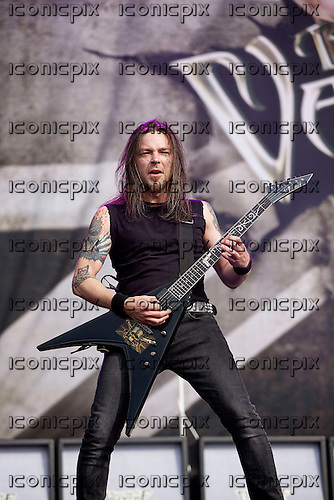 BULLET FOR MY VALENTINE - guitarist Michael Paget - performing live at the Reading Fsetival in Reading UK - 26 August 2012.  Photo credit: Ashley Maile/IconicPix © Ashley Maile **NO WEBSITES**