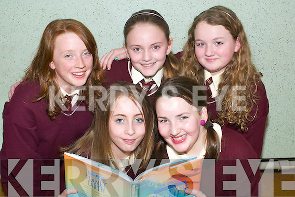 Awards: Collen Kennelly and Claire Walsh, with Aoife Ferriter, Sinead Breen .and Hollie Walsh, pupils of St Joseph's National School who took part in the .Reading Challenge and received their awards at St Joseph's on Thursday.   Copyright Kerry's Eye 2008