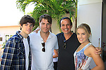 Eddie and Kristen Alderson with Jeff Branson and Christian LeBlanc at SoapFest's Celebrity Weekend - Art for Autism when the actors & kids make paintings for auction to benefit Autism on November 10, 2012 Marco Island, Florida. For info www.autism-society.org or www.autismspeaks.org. (Photo by Sue Coflin/Max Photos)