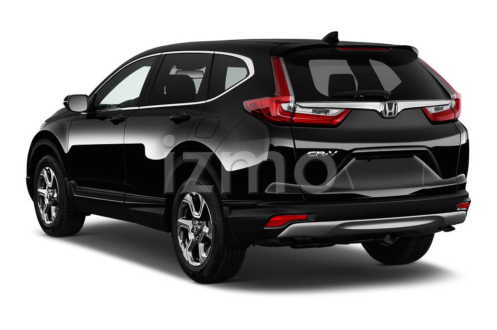 Car pictures of rear three quarter view of 2017 Honda CR-V EX-L 5 Door SUV Angular Rear