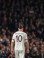 Zlatan Ibrahimovic of Paris Saint-Germain during the UEFA Champions League Round of 16 2nd leg match between Chelsea and PSG at Stamford Bridge, London, England on 9 March 2016. Photo by Andy Rowland.