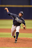 Tampa Bay Rays pitcher Damion Carroll (64) during an Instructional League game against the Boston Red Sox on September 25, 2014 at Tropicana Field in St. Petersburg, Florida.  (Mike Janes/Four Seam Images)