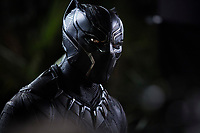 Black Panther (2018)<br /> Black Panther/T'Challa (Chadwick Boseman)<br /> *Filmstill - Editorial Use Only*<br /> CAP/KFS<br /> Image supplied by Capital Pictures