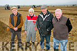 ARDFERT PLOUGHING MATCH on Dominic O Flaherty, Banna Land on Sunday were l-r James O'Driscoll, Ballyheigue, Jimmy Donnergan, Ardfert, Mike McCarthy, Causeway and Thomas Barry, Causeway