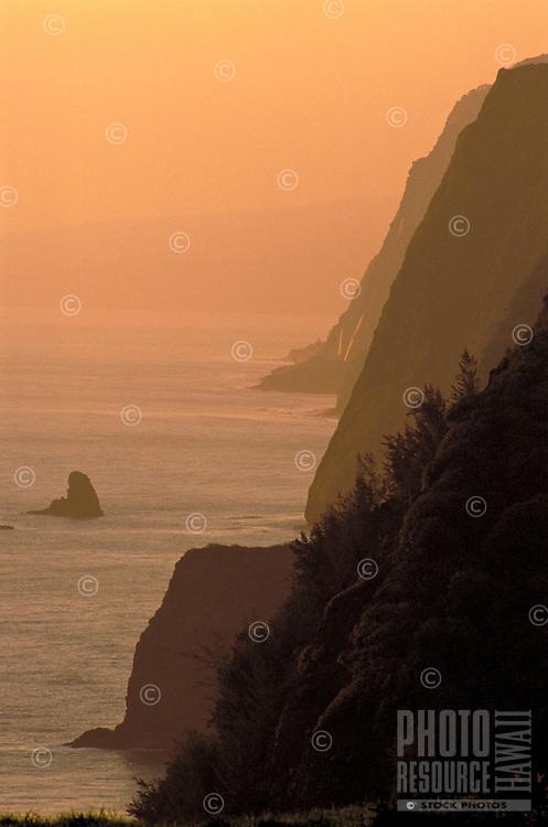 View of North shore coastline from Pololu, Big Island