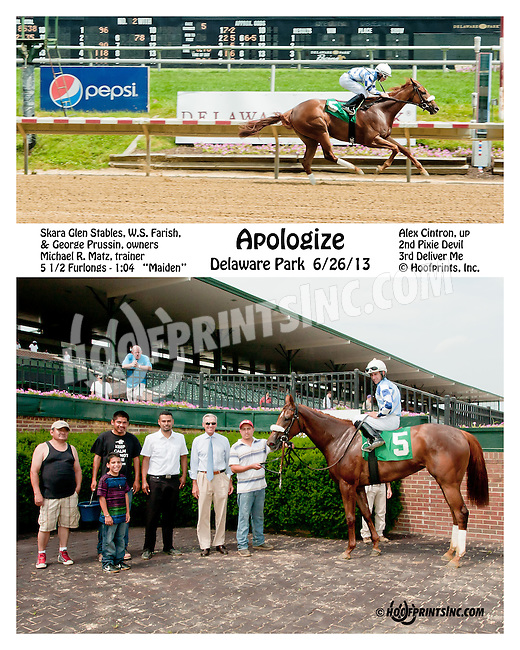 Apologize winning at Delaware Park on 6/27/13