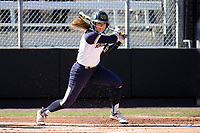 DURHAM, NC - FEBRUARY 29: Abby Sweet #26 of the University of Notre Dame hits the ball during a game between Notre Dame and Duke at Duke Softball Stadium on February 29, 2020 in Durham, North Carolina.