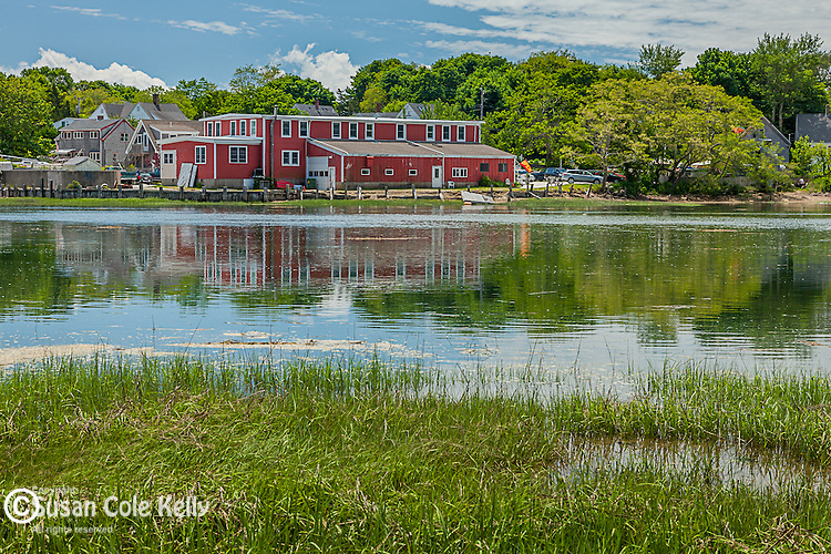 Red gallery on Duck Creek in Wellfleet, Cape Cod, Massachusetts, USA
