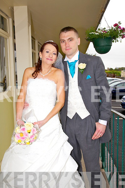 Sandra Carey, daughter of Roger and the late Mary Carey Cahersiveen & London, and Robert O'Connell, son of Eimear & Mick, Castletroy, Limerick who were married on Saturday in The O'Connell Church, Cahersiveen.  Fr. Niall Howard officiated at the ceremony.  Best man was John O'Connell, Groomsman was Michael O'Connell, Chief Bridesmaid was Nula Coates assisted by Michelle Devane.  Flower girls were Mary Coates & Molly Carey.  The reception was held in The Ring of Kerry Hotel Cahersiveen and the couple will reside in London.