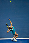 Coco Vandeweghe of United States serves during the singles semi final match of the WTA Elite Trophy Zhuhai 2017 against Ashleigh Barty of Australia at Hengqin Tennis Center on November  04, 2017 in Zhuhai, China. Photo by Yu Chun Christopher Wong / Power Sport Images