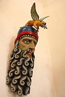 Ceremonial Mexican mask in the Museo Casa de la Mascara, Acapulco, Mexico