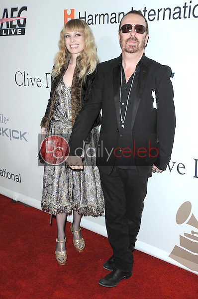 David A. Stewart and wife Anoushka<br />at the Salute To Icons Clive Davis Pre-Grammy Gala. Beverly Hilton Hotel, Beverly Hills, CA. 02-07-09<br />Dave Edwards/DailyCeleb.com 818-249-4998