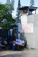 MADAGASCAR, Mananjary, prison, watch tower / MADAGASKAR, Mananjary, Gefaengnis, Wachturm