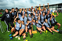 The St Mary's team celebrates winning the 2017 1st XV rugby Top Four girls' final between St Mary's College and Hamilton Girls' High School at Sport and Rugby Institute in Palmerston North, New Zealand on Sunday, 10 September 2017. Photo: Dave Lintott / lintottphoto.co.nz